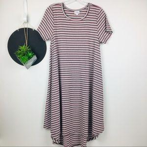 Lularoe Stripe Carly Dress Size Small